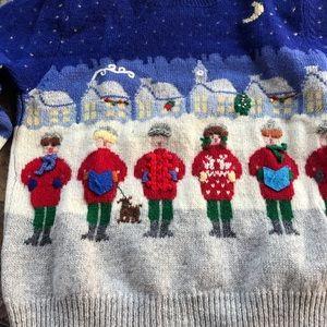 Wool Carolers Christmas Sweater